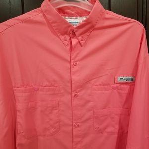 Columbia PFG Omni-Shade Mens Size XXL Vented Shirt